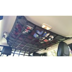 2014 - Newer Jeep Cherokee (KL) full ceiling attic storage net Jeep Trailhawk, Jeep Cherokee Trailhawk, Jeep Cherokee Accessories, New Jeep Cherokee, Attic Renovation, Attic Storage, Basic Tools, First Aid Kit, Ceiling