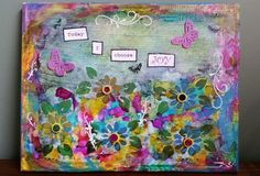 Today I Choose Joy Gorgeous Original 11x14 by TheInspiredCrafter