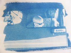 "Die Kreativschmiede [an der Zschopau] Cyanotypie ""rear view mirror"" Rear View Mirror, Tote Bag, Bags, Brown Paper, Drawing S, Creative, Handbags, Totes, Bag"