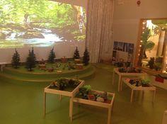 Love the trees Classroom Layout, Classroom Design, Classroom Displays, Preschool Classroom, Classroom Ideas, Preschool Education, Preschool Learning, Reggio Emilia, Reading Tree