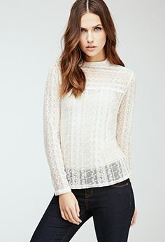 Embroidered Lace Blouse | Forever 21 - 2000078538