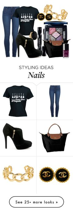 """ville_n°183"" by angelabalboa on Polyvore featuring Paige Denim, Shiseido, Christian Dior, MICHAEL Michael Kors, Longchamp and Chanel"