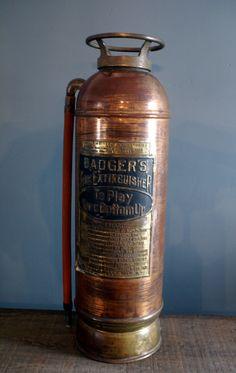 Vintage Copper and Brass Badger's Fire Extinguisher by OldandBoard, $199.00