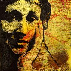 Lenard Woolf's Wife Printmaking, Deadpool, Superhero, Artwork, Painting, Fictional Characters, Work Of Art, Auguste Rodin Artwork, Painting Art