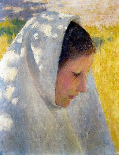 Emanuel Phillips Fox - The Communicant (Peasant Girl)