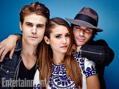 Paul Wesley, Nina Dobrev, and Ian Somerhalder, The Vampire Diaries. See more stunning star portraits from our photo studio at San Diego Comic-Con 2014 here: http://www.ew.com/ew/gallery/0,,20399642_20837151,00.html