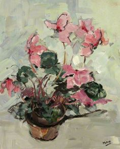 Cyclamen - Arthur Edwards Milne (1889–1981) While Winnie the Pooh would like this, A A Milne is not related to A E Milne per the previous pinner.