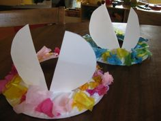 Make your own Easter hat with ears from a paper plate.