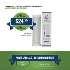 ON SALE! Water Filter Cartridge Flow-Pure With the Watts carbon filter, you get the best chlorine-free water no matter where you go. Delivery and curbside pickup available. Roof Coating, Water Filter Cartridge, Support Local Business, Carbon Filter, Flow, Delivery, Pure Products, Water
