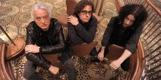 """Jimmy Page, director Davis Guggenheim and Jack White from """"It Might Get Loud"""""""
