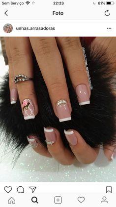 Manicure And Pedicure, Nails, Manicures, Beauty Hacks, Nail Designs, Hair Beauty, Nail Art, Nail Ideas, Bride