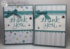 I made these cards for the Freshly Made Sketches #164 challenge. You can see more information and free instructions for making them on my blog here: http://stampwithamyk.com/2014/12/01/stampin-up-watercolor-thank-you-for-the-holidays/