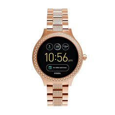 ddf230603ceac Fossil Q Women s Gen 3 Venture Stainless Steel Smartwatch, Color  Rose Gold  (Model