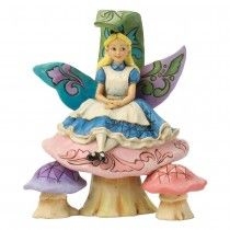 Jim Shore Changed So Much Since This Morning - Alice Figurine (Disney Tradition)