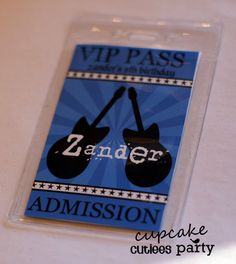 VIP lanyard Badge Custom Invites Digital by CupcakeCutieesParty, $12.00