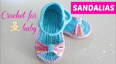 Crochet baby sandals from 6 to 9 months, step by step
