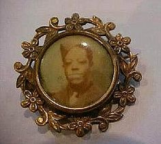 RARE1920 Mourning Jewelry Brooch Black Army Soldier