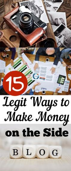 15 Legit Ways to Make Money on the Side. Tips, tricks, hacks, shopping hacks, money hacks, cleaning, life hacks, life tips.