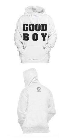 A fashionable white hoodie from Big Bang GD and Taeyang's 'Good Boy' music video. It was manufactured by YG Entertainment and comes in two sizes. Boys Hoodies, Sweatshirts, Exo Merch, Daesung, Bigbang, Korean Bands, Kpop Outfits, Kpop Fashion, White Hoodie