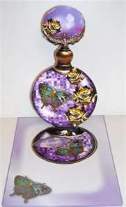 Pretty lilac butterfly perfume bottle