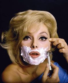 The famous shot of Virna Lisi for the cover of Esquire magazine, March 1965.