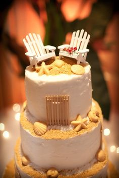 Adirondack Chair Wedding Cake Toppers - Not Fencing - Contact Me With Your Order. $20.00, via Etsy. Perfect for Casey and Chris to add Nantucket into their wedding.  (Just the empty chairs on top of the cake would be perfect).