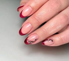 oval nails with french dot 2019 – nails – # french # nails … Acrylic Nail Shapes, Acrylic Nails, Simple Gel Nails, Hair And Nails, My Nails, Classic Nails, Nails 2018, Round Nails, French Tip Nails