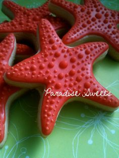 Starfish Sugar Cookies  1 Dozen by ParadiseSweets on Etsy, $42.00