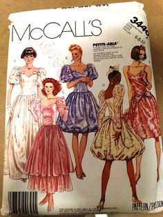 1987 McCalls Party Dress Pattern 3440 Madonna by TheIDconnection