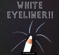 how to wear white eyeliner // love this look!