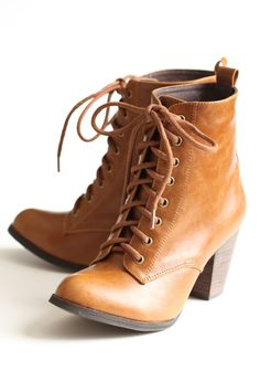 Detour Lace-up Boots By Chelsea Crew 76.99 at shopruche.com. Finished with a lace-up front, these whiskey-toned boots feature a faux stacked heel and gold-toned hardware. The statement design of these neutral-hued boots makes them perfect for enhancing almost any outfit.Imported, 2.5