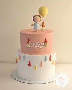 Pretty Cakes, Cute Cakes, Beautiful Cakes, Amazing Cakes, Baby Girl Cakes, Baby Birthday Cakes, Fondant Cakes, Cupcake Cakes, Celebration Cakes