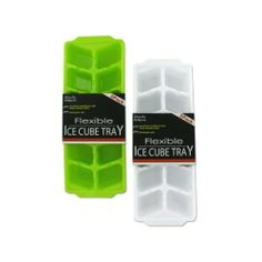 """Ice Cube Tray Set 72Pcs by FindingKing. $136.99. Help keep drinks cool and refreshing with this set of ice cube trays. Perfect for tea; lemonade; hard drinks and more. Each pack comes with 2 flexible ice cube trays and each tray can make twelve cubes. Colors include neon green or white. Trays are shrink wrapped with label. Measures 3 3/4"""" x 10"""" with 1"""" deep ice cube spaces."""