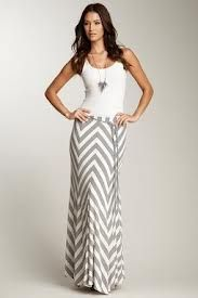 Pretty chevron pattern maxi skirt.  Love.
