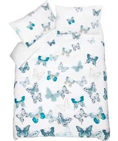 Buy Heart of House Butterflies Blue Bedding Set - Double at Argos.co.uk, visit Argos.co.uk to shop online for Limited stock Home and garden, Bedding