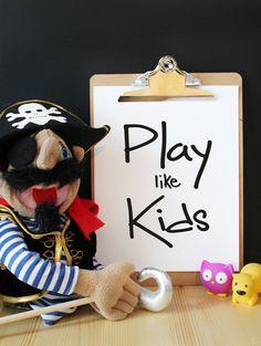 Play like kids  Typographie Affiche par FidelesCompagnons sur Etsy