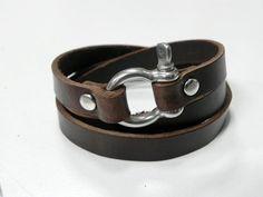 Leder Wrap Armband Leder Armband Leder Manschette mit Metall
