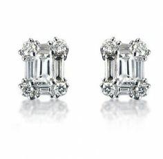 Diamond Baguette Earrings 0.80ct