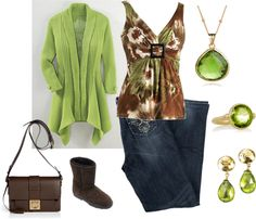 """""""Peridot and Brown - Plus Size"""" by intcon on Polyvore"""