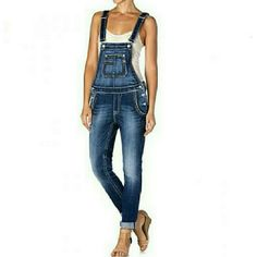 NWT- MISS ME Cuffed Overalls - LARGE MISS ME Cuffed Overalls Skinny leg They come cuffed but may be unrolled to regular length BRAND NEW, NEVER WORN with original tags SIZE: LARGE  I work in L.A as a wardrobe stylist for film and television. All my items are authentic and come from high end boutiques or stores. Thanks! Miss Me Jeans
