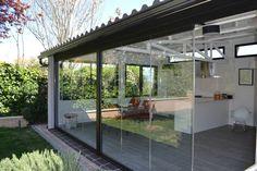 #Patio #Porche #Terraza #moderno #decoracion via @planreforma #vidrio #tejado #ventanas