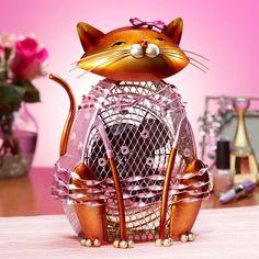 Figurine Cat Fan Katerina | DecoBreeze #HomeDecor #PintoWin