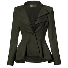 Women Double Notch Lapel Office Blazer JK43864 1073T NAVY 1X at Amazon... (1.655 RUB) ❤ liked on Polyvore featuring outerwear, jackets, blazers, navy blue jacket, navy blazer, notch collar jacket, navy blue blazer and blazer jacket