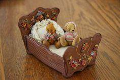 Adorable Dollhouse Miniature Teddy Bears