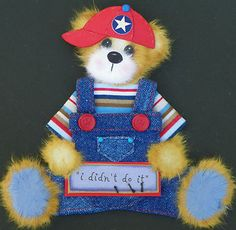 Twag Debbie Baby Boy Tear Bear Paper Piece 4 Premade Scrapbook Pages or Album | eBay