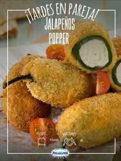 Para las fiestas patrias no hay nada más rico que  unos deliciosos Jalapeños Popper.   #receta #jalapeños #septiembre #recetas