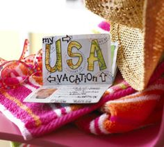 How about a passport for the summer? Things you did, places you went.