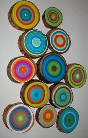 Image result for painted wood rounds