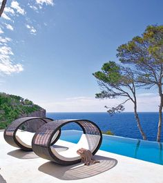 Mediterranean home on the bluffs of a pine forest on the island of Majorca by designer and owner Elena López Fonta