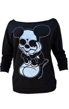 Sad Mouse Oversized Sweatshirt by Black Market Art